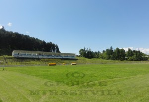 Givi Chokheli Stadium, Telavi - home to Kakheti Telavi in Georgia's wine-rich east, and named after Euro 1960-winning defender