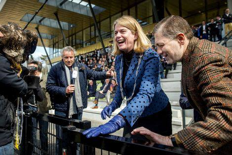 Jordania currying local favour as Mayor of Arnhem Pauline Krikke opens Vitesse's new training complex