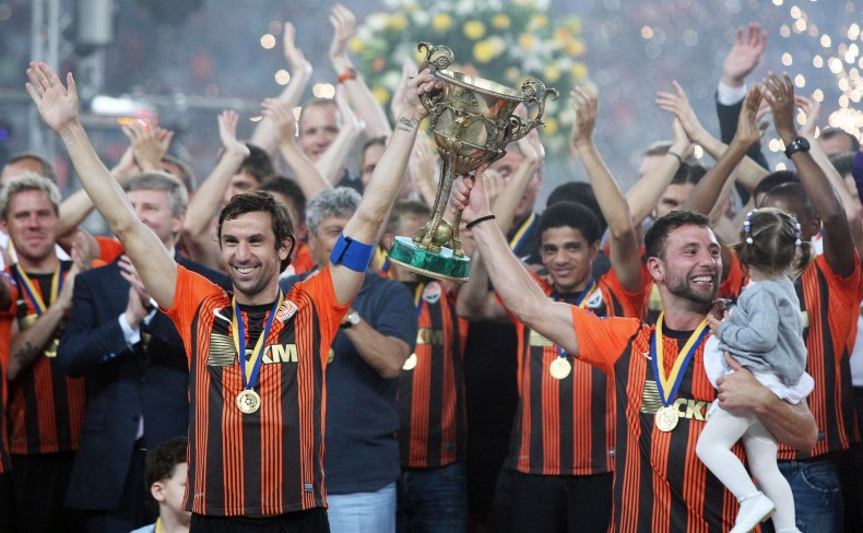The increasingly familiar sight of Shakhtar lifting domestic silverware in Ukraine