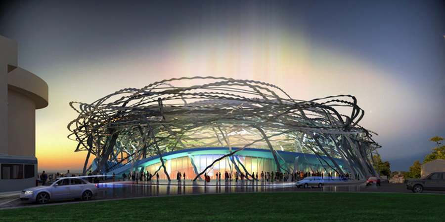 Sevastopol's proposed new stadium - the 'Chaika' - already primed for defensive