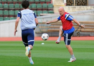 Bilek trains his new, largely inherited Dinamo side