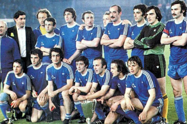 The legendary Dinamo Tbilisi team of 1981, European Cup Winners' Cup winners