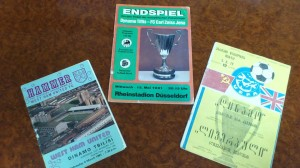 Norakidze's Prized Programmes (left to right) - West Ham (away) 1981, Carl-Zeiss Jena Cup Winners' Cup final 1981. Liverpool (home) 1979.