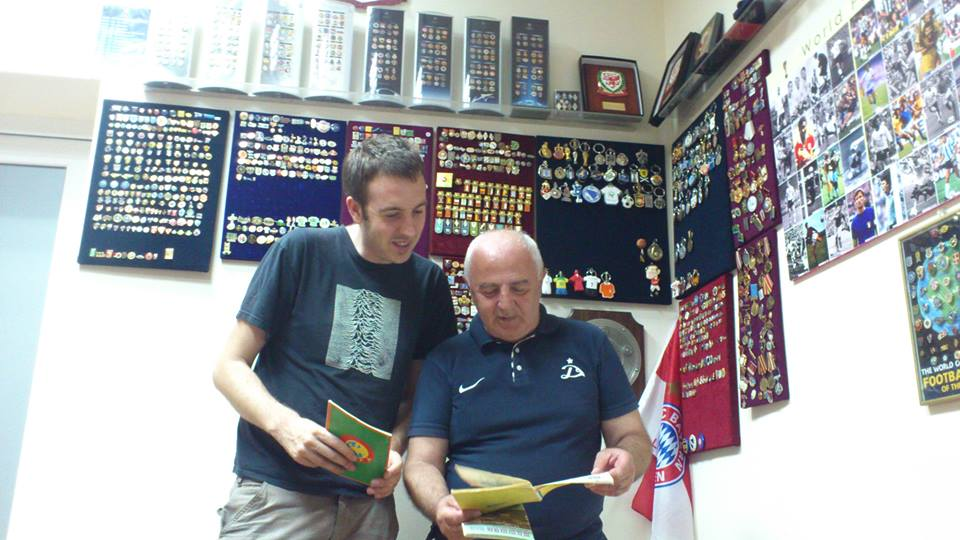 "Malkhaz ""Fatso"" Norakidze, Dinamo Tbilisi club historian enjoys a stroll down memory lane"