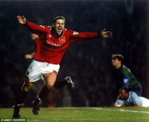 Kanchelskis scoring a memorable hat-trick against Manchester City