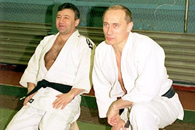 Arkadiy Rotenberg with his judo partner Vladimir Putin.