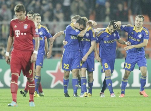 As a coach Goncharenko oversaw BATE's unlikely victory against Bayern Munich.