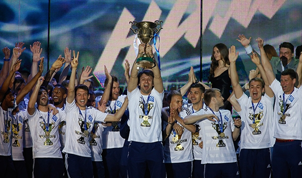Dynamo Kyiv won both the cup, and the league in 2015.