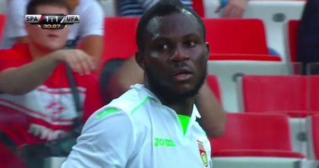 Frimpong during the match against Spartak