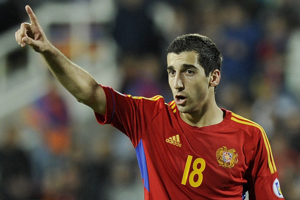 Henrikh Mkhitaryan of Armenia during the FIFA 2014 World Cup Qualifier group B match.