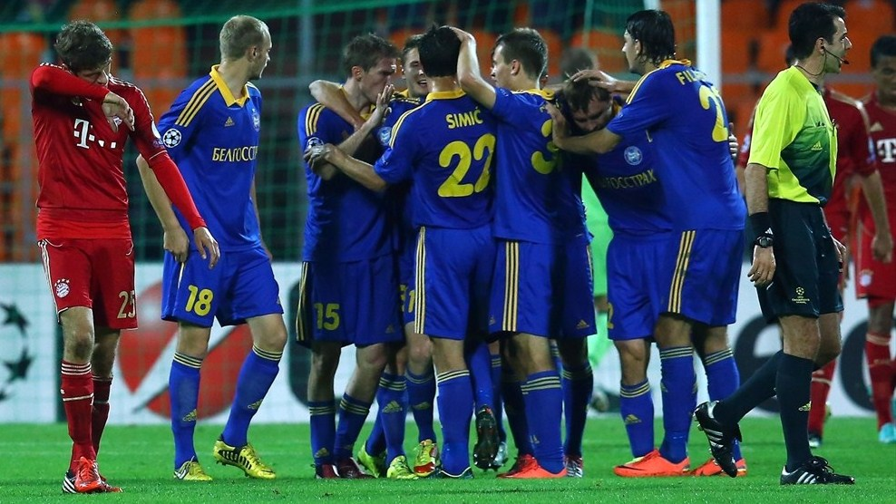 BATE's victory against German giant Bayern Munich