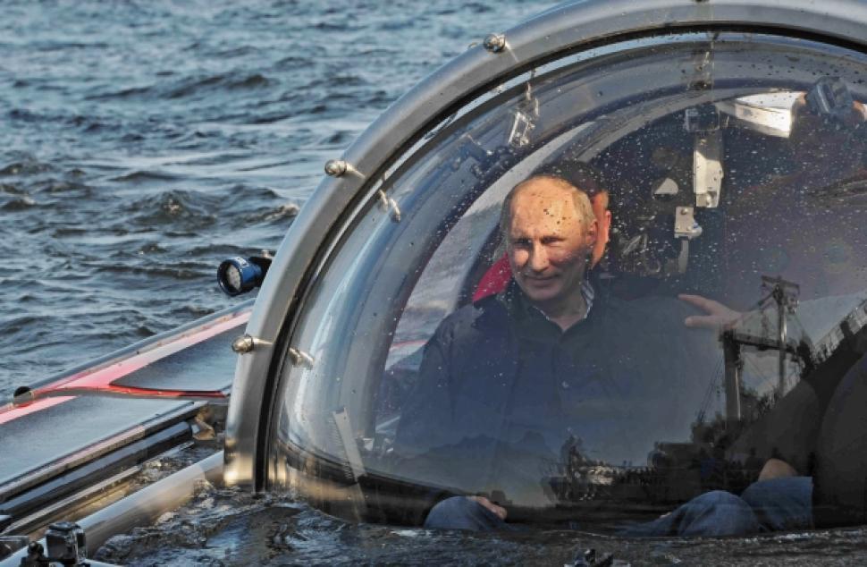 Putin during his submarine adventure
