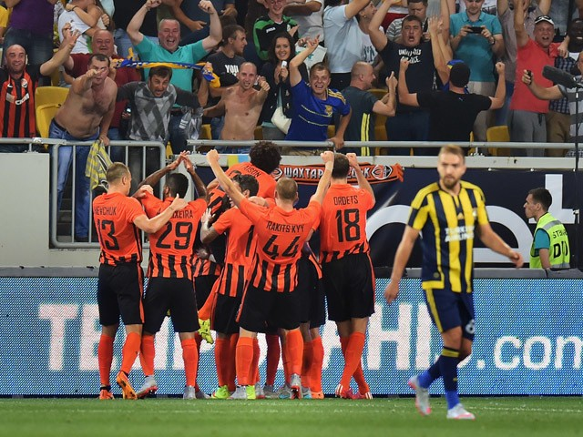 Shakhtar after beating Fenerbahçe