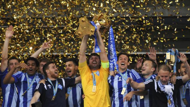 The turning point for Dynamo, as they win the Ukrainian Cup Final in 2015 - Image via yahoo