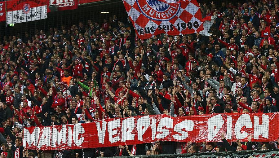 Bayern Fans protesting against Mamić