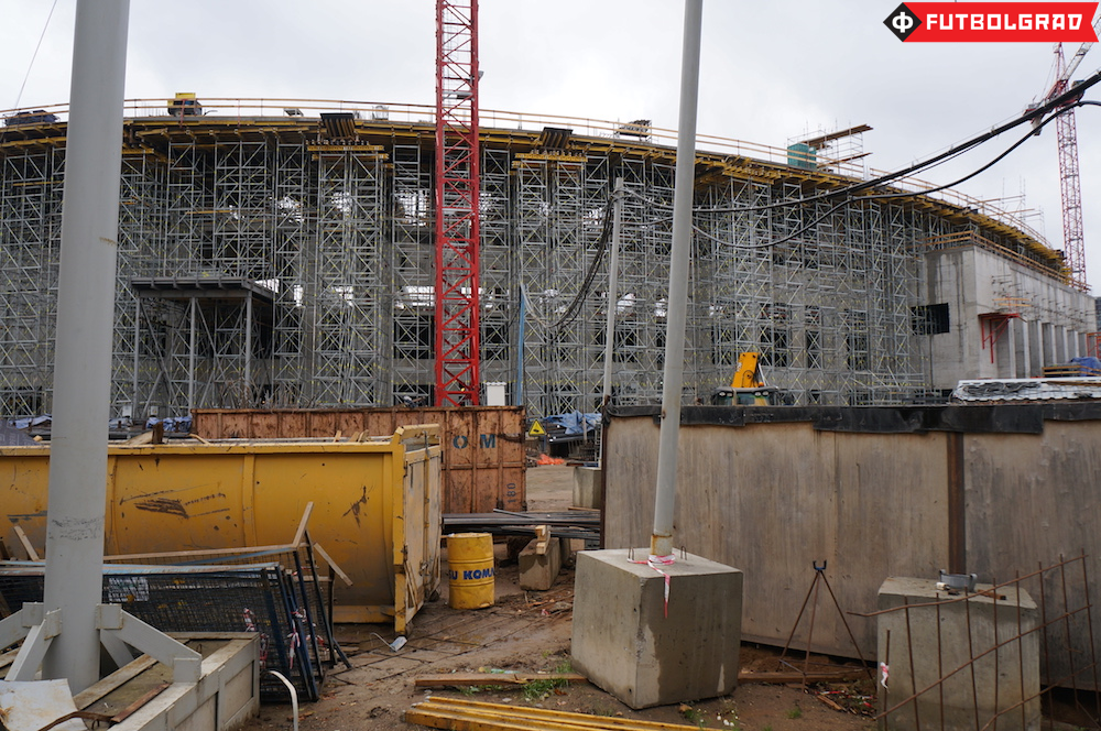 Construction at Dinamo's Arena in Petrovsky Park