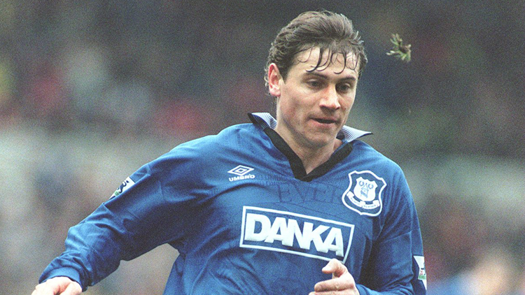 Kanchelskis after his controversial move to Everton - Image via