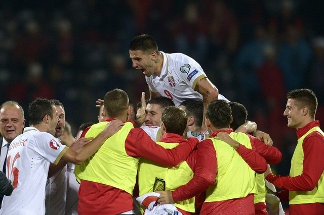 Serbia wins the return match 2-0 - Image via national.ae