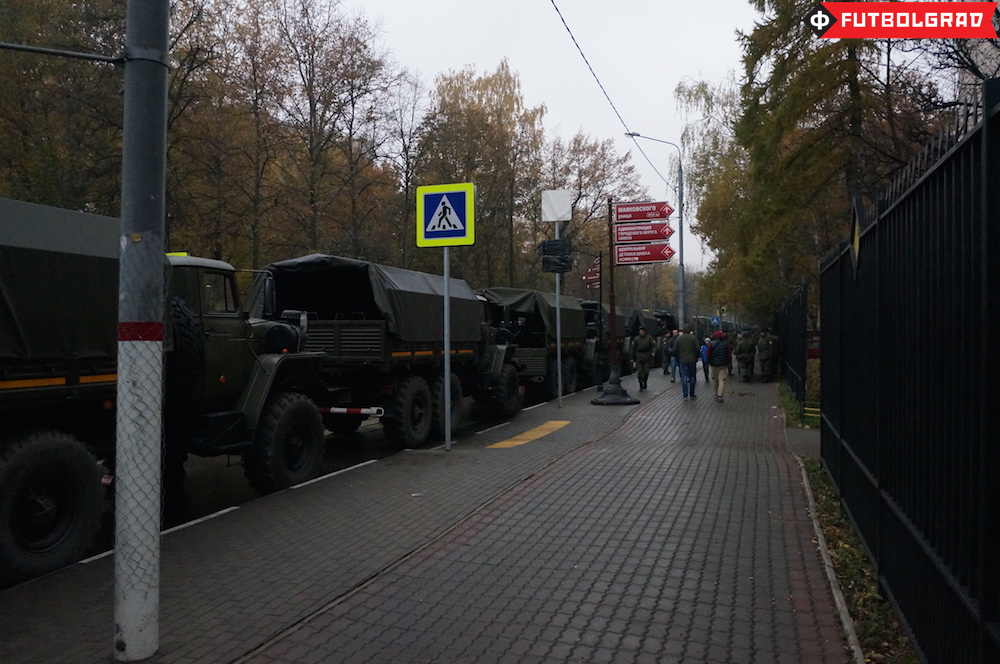 Military presence outside Arena Khimki - Image via Manuel Veth