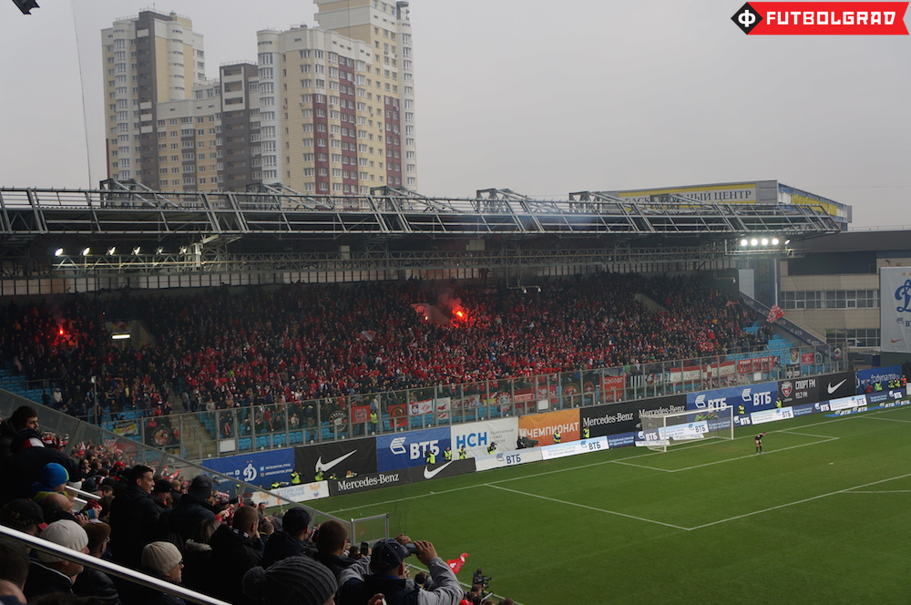 Spartak supporters at Russia's oldest derby
