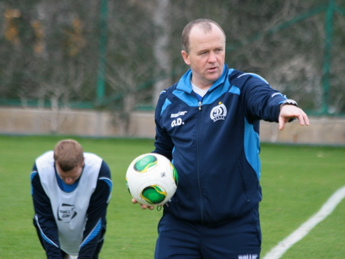 Oleg Dulub (pictured here coaching his former club Dinamo Minsk) - Image via Dinamo Minsk