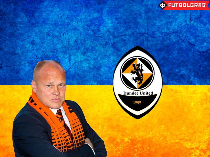 Dundee United have been linked to Shakhtar as a feeder club - Image design via Manuel Veth