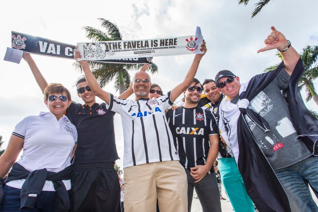 Corinthian fans at the Florida Cup - Image via pressfc.com.br