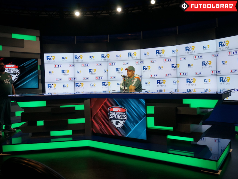Fluminense coach Eduardo Baptista at the press conference, sadly no translation was provided