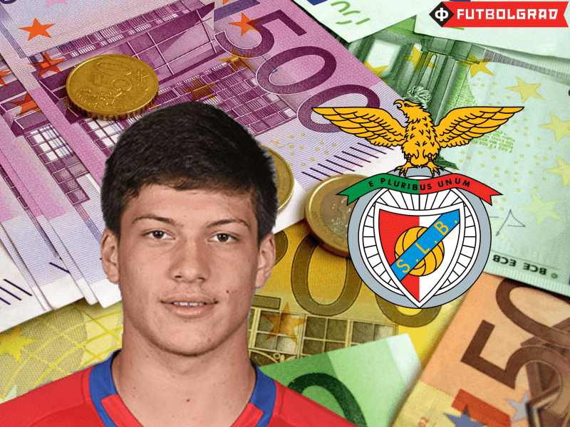 Luka Jović was signed by Benfica Lisbon this winter