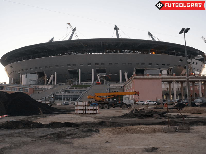 Petersburg's UFO is a busy construction site