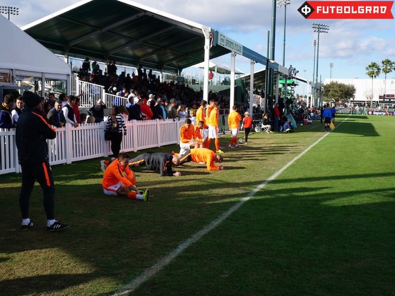 Shakhtar's bench warming up