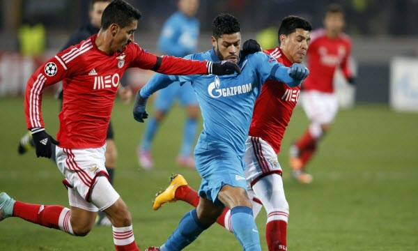 Despite being the favourite in the Round of 16 vs Benfica Zenit struggled in Lisbon - Image via abc