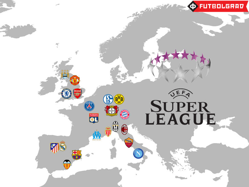 The potential permanent members of a European Super League