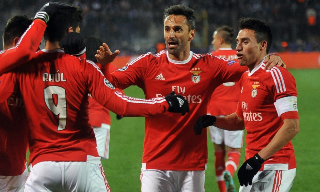 Benfica players are celebrating the tying goal - Image via Guardian