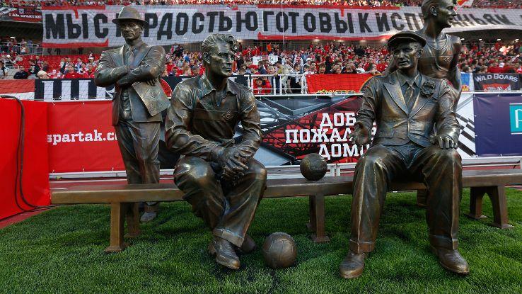 The statue of the Starostin brother's at Spartak's new stadium - Image via ESPN