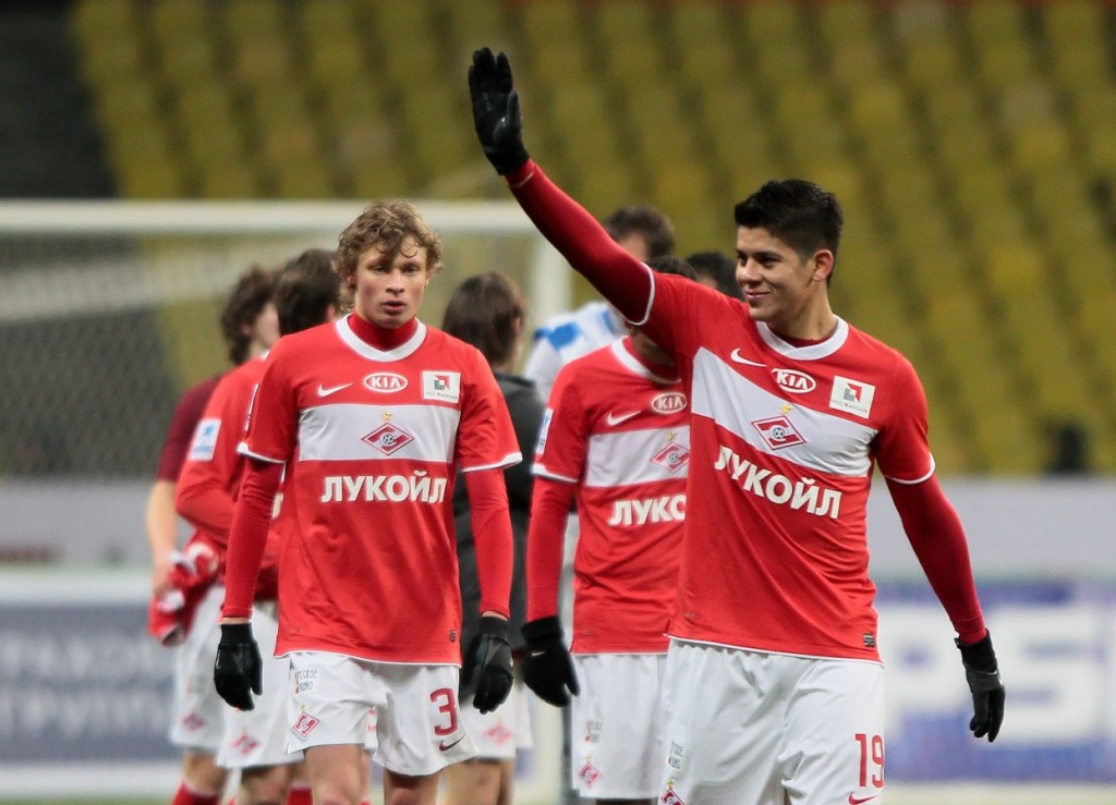 Marcos Rojo during his time at Spartak Moscow - Image via turnstyle.co.uk