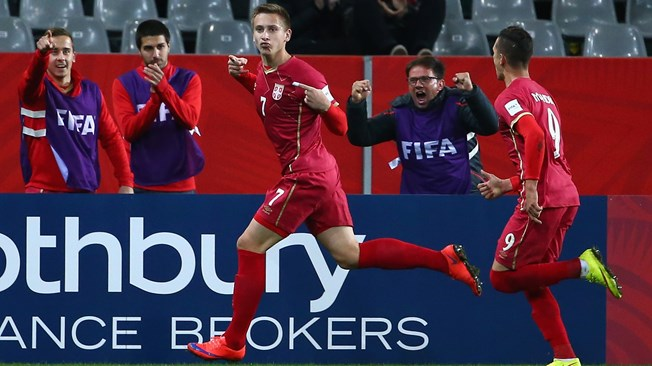 Ivan Šaponjić celebrates a goal during the tournament - Image via abc