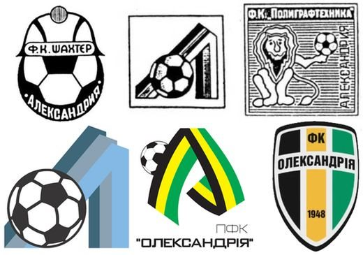 The various incarnations of what is today FC Oleksandriya - Image via abc