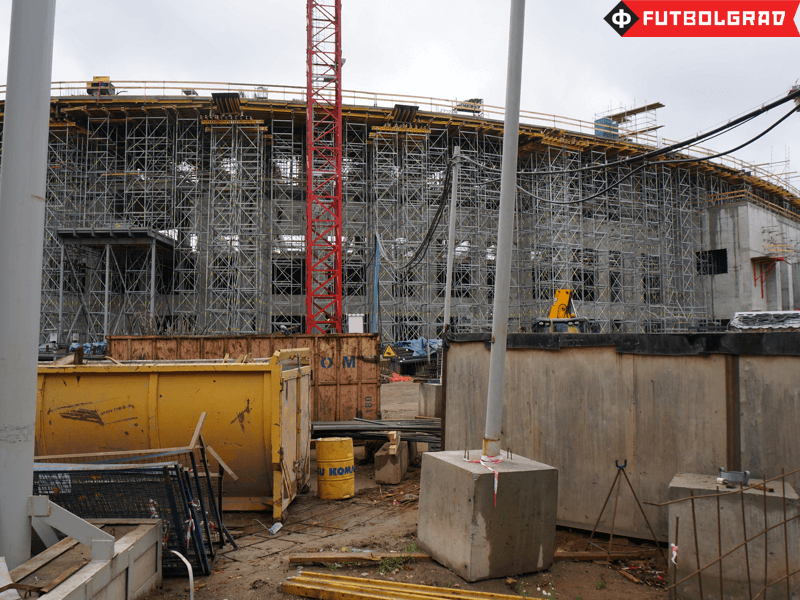 Dinamo's Stadium in the Petrovsky Park is currently under construction