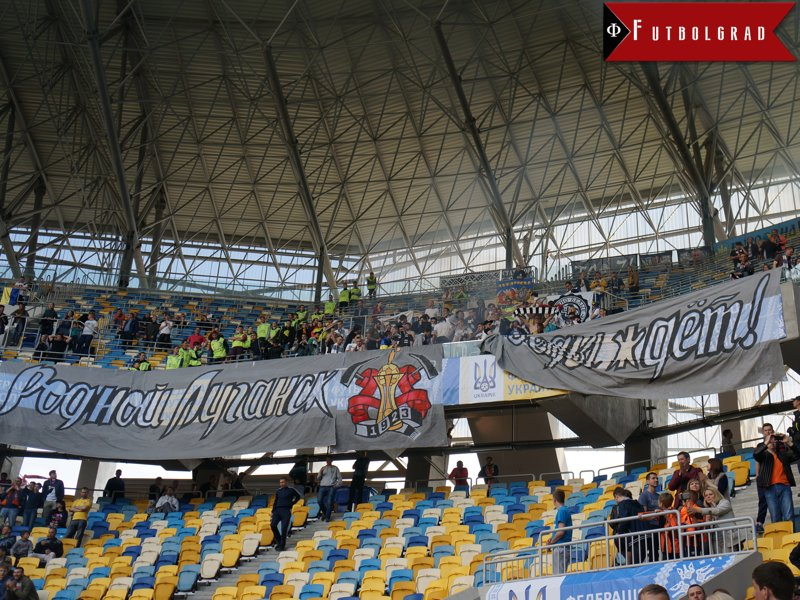 Zorya Luhansk fans at the Ukrainian Cup final