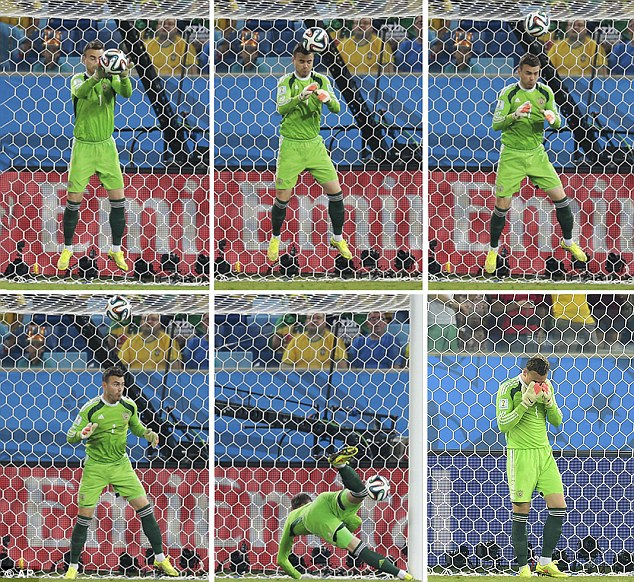 Akinfeev's mistake against South Korea at the 2014 World Cup in Brazil - Image via abc