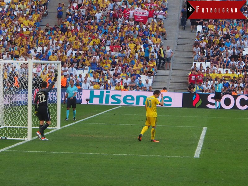 Frustration: Konoplyanka's Frustration says it all for the Ukrainian National Team