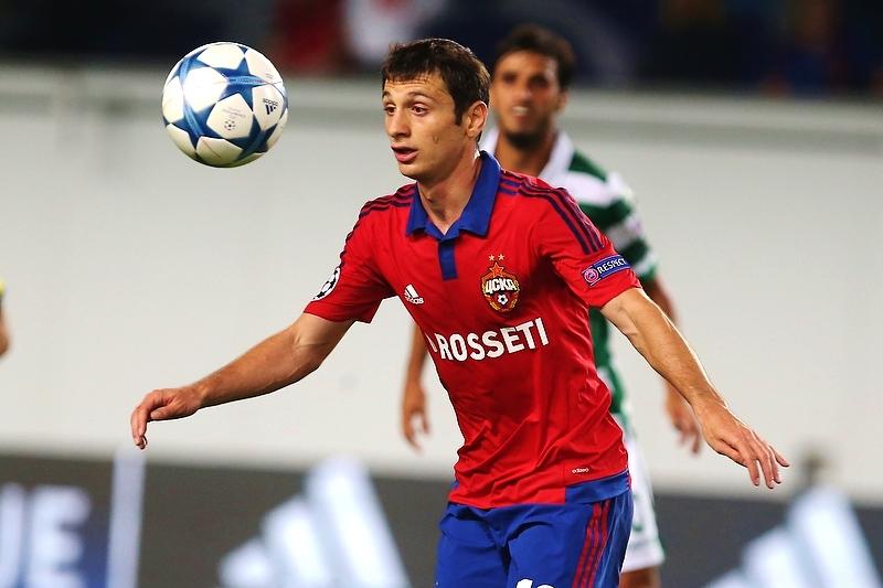 Slutsky has to now replace both Alan Dzagoev (pictured) and Igor Denisov - Image via soccer.ru