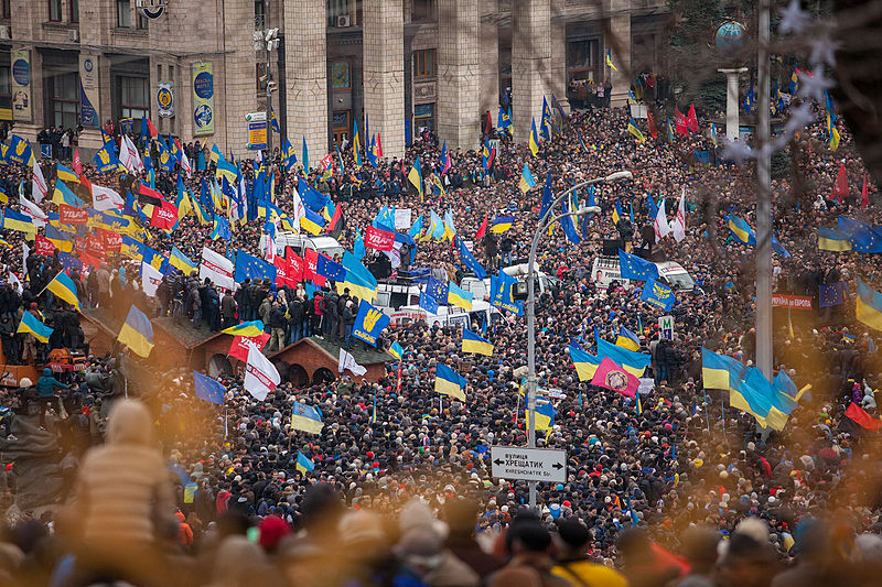 The Maidan Revolution changed the fortune of Metalist Kharkiv - Image via Nessa Gnatoush