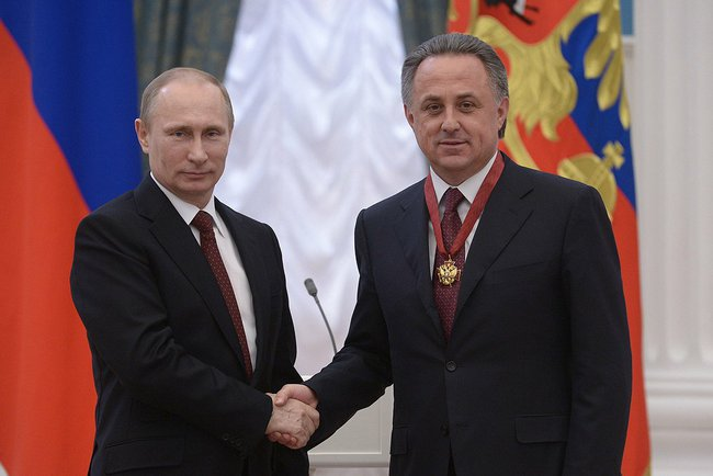 Vitaly Mutko, here with President Putin, tried to downplay the events at first - Image via Kremlin.ru