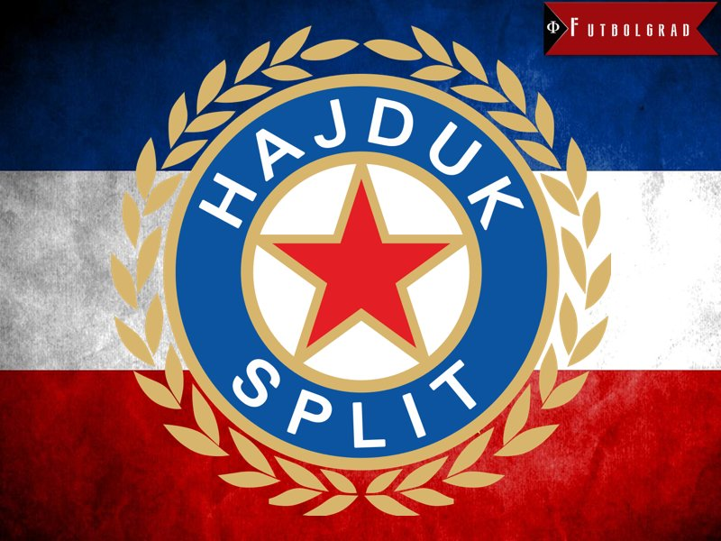 During the time of communism the checkerboard in Hajduk's logo was replaced with the red star