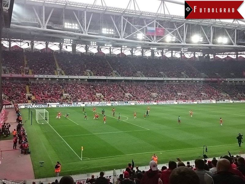 Action from last weekends Moscow derby Spartak vs Lokomotiv.