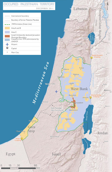 Israel, the occupied territories, and the Green Line