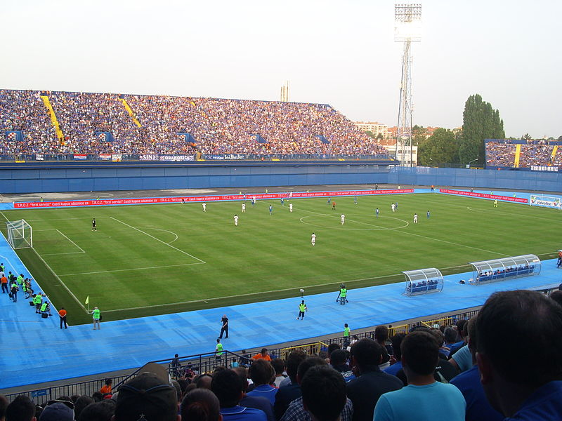 Maksimir Stadium has rarely been this full this season