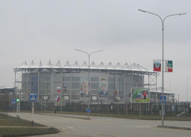The Akhmat Arena in Grozny